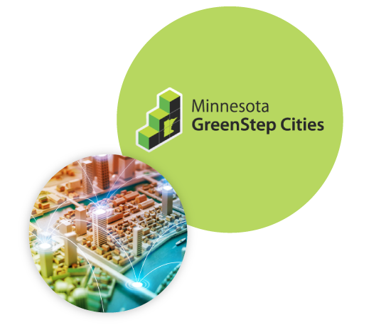Green Step Cities Bubble Image