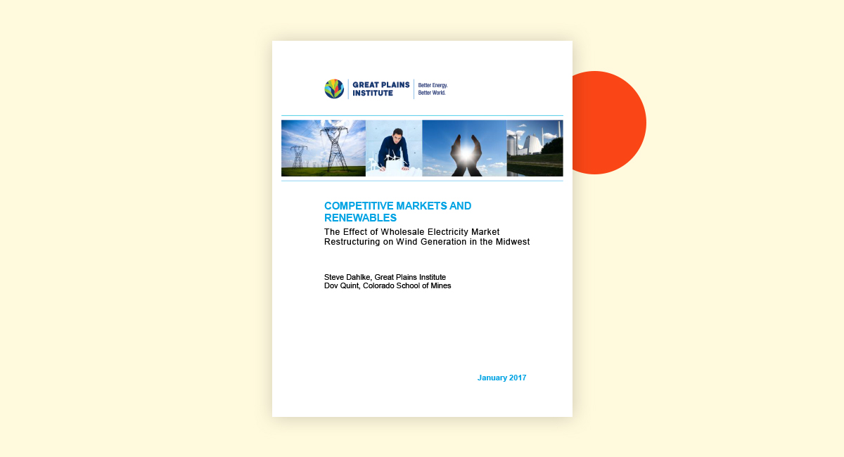 Competitive Markets and Renewables Cover