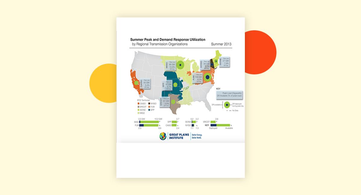 Demand Response Fact Sheet Map Great Plains Institute - Us-map-great-plains