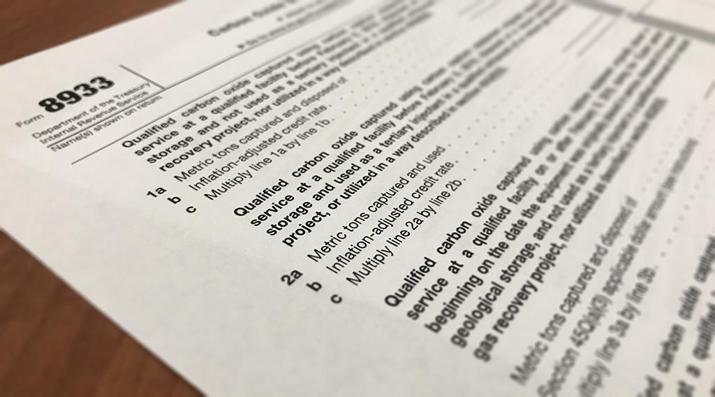 IRS form 8933