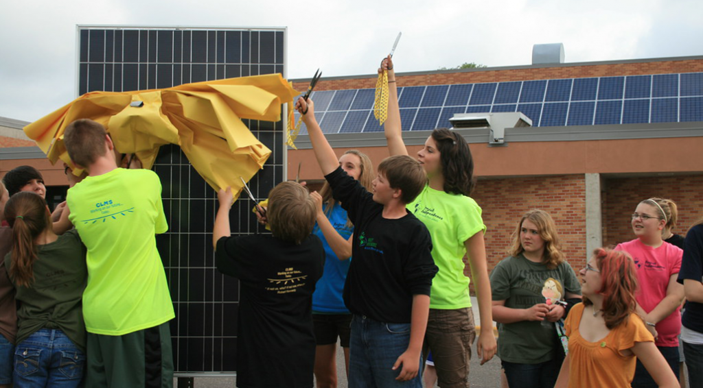 Photo from Chicago Lakes Middle School—Project Independence Solar PV from the 2010 round of Metro CERT seed grants