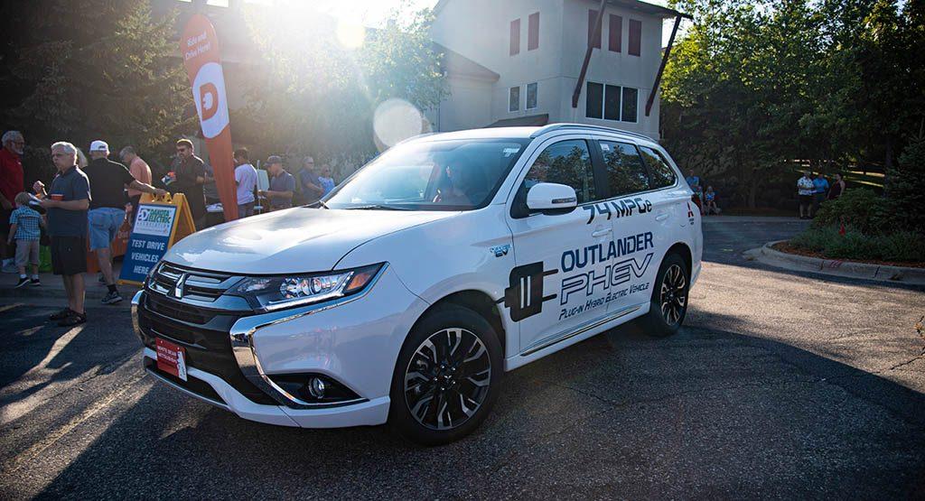 A plug in hybrid Mitsubishi Outlander