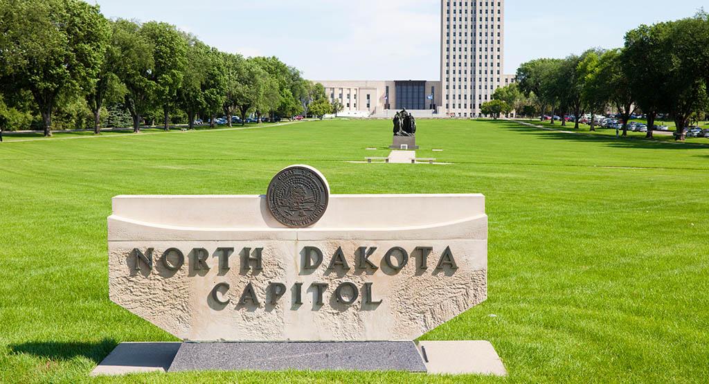the North Dakota Capitol building