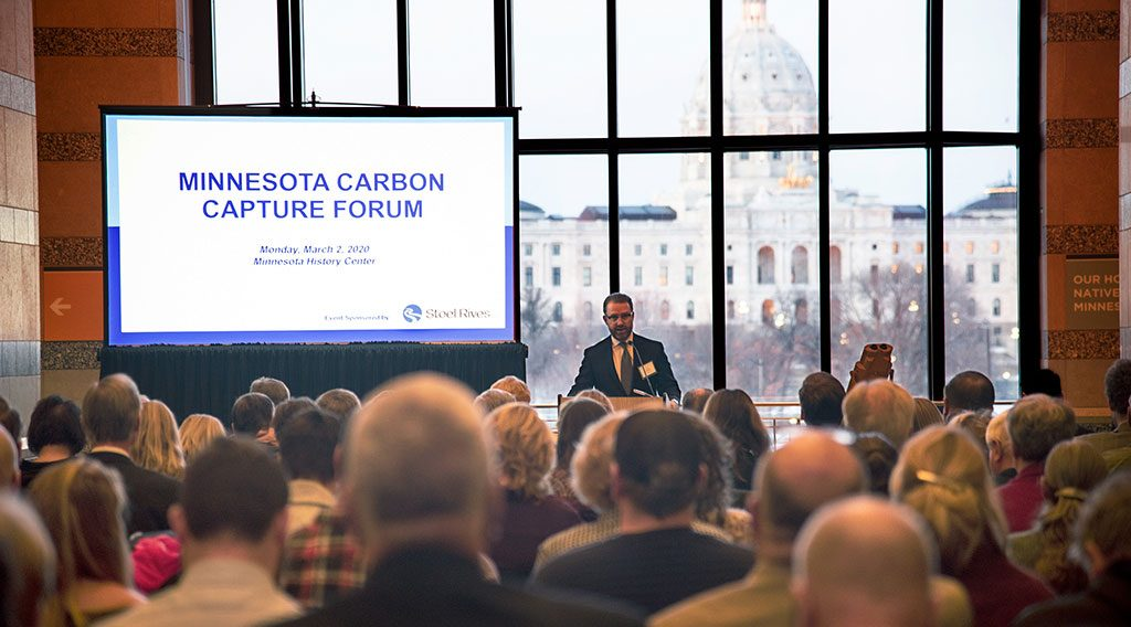 A man speaking at the Minnesota Carbon Capture Forum