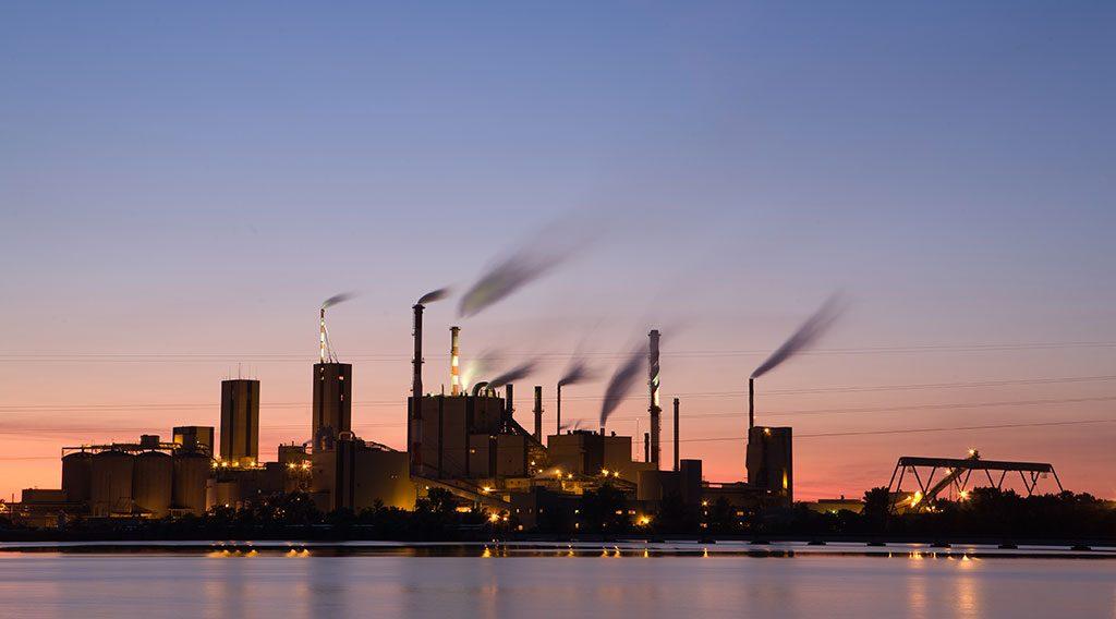 An industrial facility