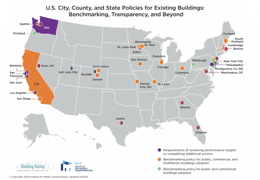 US City and State Policies for Existing buildings